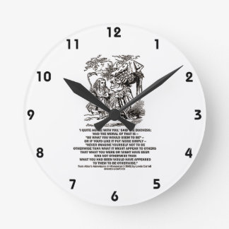 Wonderland Be What You Would Seem To Be Duchess Round Wallclock