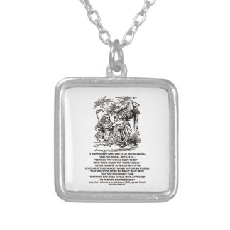 Wonderland Be What You Would Seem To Be Duchess Silver Plated Necklace