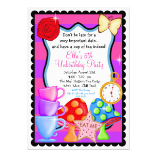 Wonderland Birthday Party Invitation