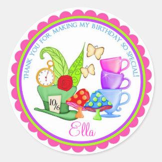 Wonderland Birthday Party Stickers