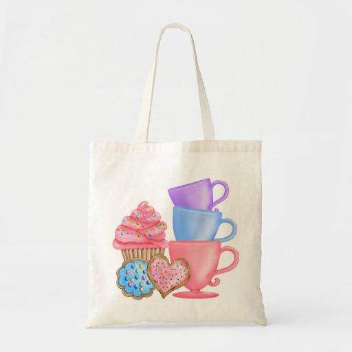 Wonderland  Birthday Tea Party Budget Tote Bag