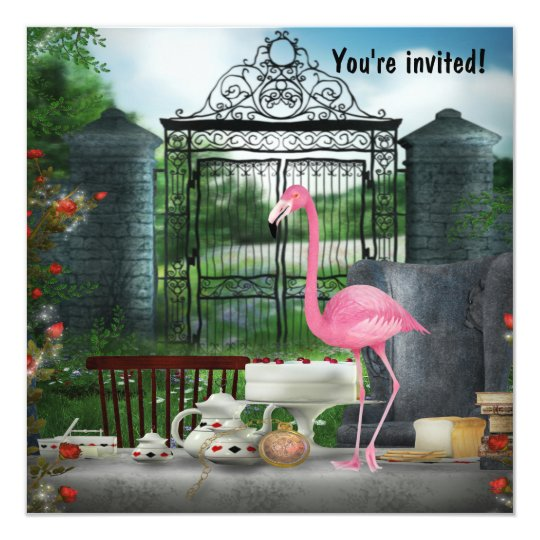 Wonderland Birthday Tea Party Card