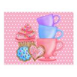 Wonderland  Birthday Tea Party Post Cards