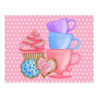 Wonderland  Birthday Tea Party Postcard