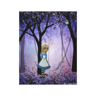 Wonderland Canvas Art  Alice in Enchanted Forest