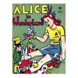 Wonderland Comic Book Postcard