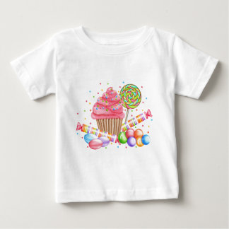 Wonderland Cupcake Candy Lollipop Sweet Tarts Baby T-Shirt
