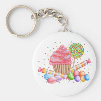 Wonderland Cupcake Candy Lollipop Sweet Tarts Basic Round Button Keychain