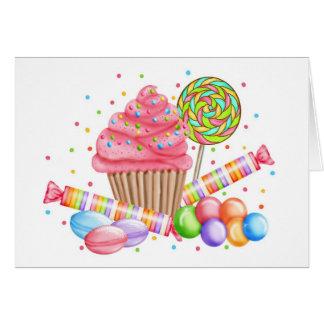 Wonderland Cupcake Candy Lollipop Sweet Tarts Card