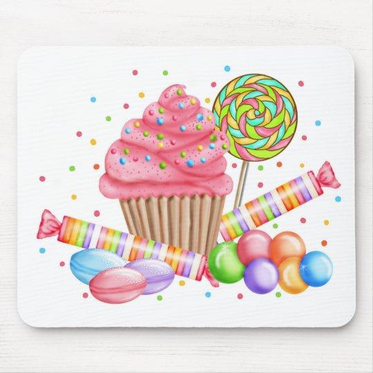 Wonderland Cupcake Candy Lollipop Sweet Tarts Mouse Pad