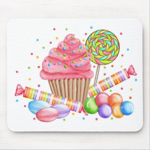 Wonderland Cupcake Candy Lollipop Sweet Tarts Mousepad