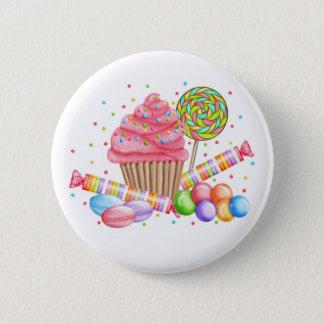 Wonderland Cupcake Candy Lollipop Sweet Tarts Pinback Button