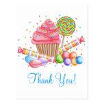 Wonderland Cupcake Candy Lollipop Sweet Tarts Postcard