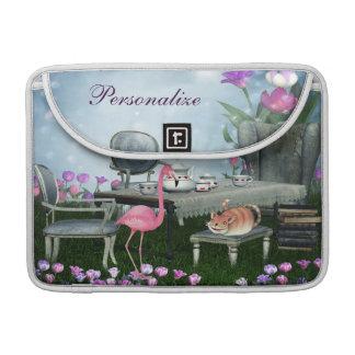 Wonderland Flamingo & Cheshire Cat MacBook Sleeve MacBook Pro Sleeve