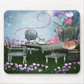 Wonderland Flamingo & Cheshire Cat Mousepad