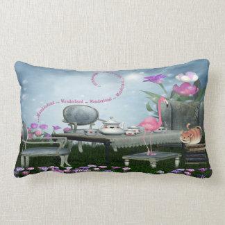Wonderland Flamingo & Cheshire Cat Tea Party Pillow
