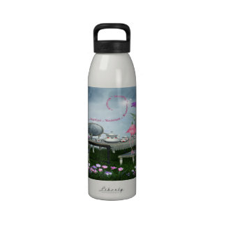 Wonderland Flamingo & Cheshire Cat Tea Party Drinking Bottles