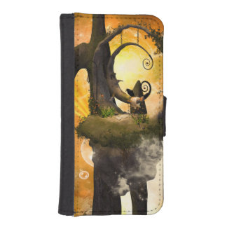Wonderland in the universe with raven wallet phone case for iPhone SE/5/5s