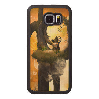 Wonderland in the universe with raven wood phone case