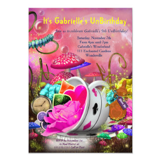 Wonderland Invitations, Wonderland Party Card
