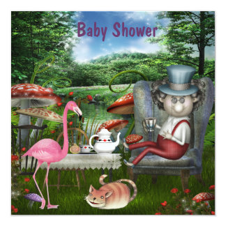 Wonderland Mad Hatter Tea Party Baby Shower Card
