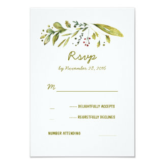 Wonderland Nature Inspired Wedding RSVP Cards
