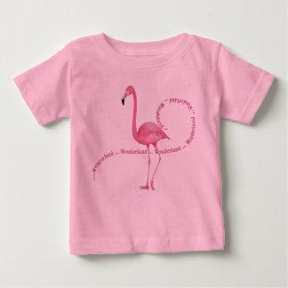 Wonderland Pink Flamingo Baby T-Shirt