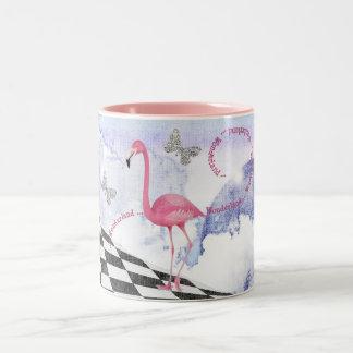 Wonderland Pink Flamingo Fantasy Art Mug