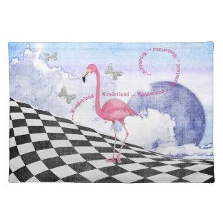 Wonderland Pink Flamingo Fantasy Art Placemat