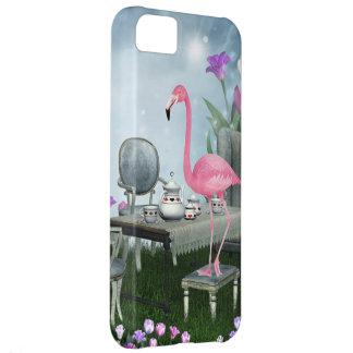 Wonderland Pink Flamingo Tea Party iPhone 5 Case