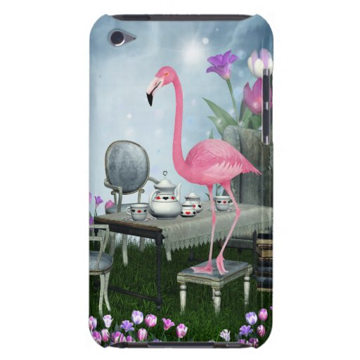 Wonderland Pink Flamingo Tea Party iPod Touch Case