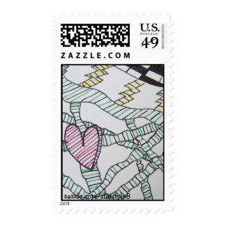 """Wonderland"" Postage Stamp"