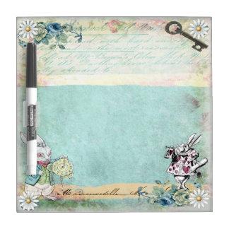 Wonderland Rabbit Herald Dry Erase Board