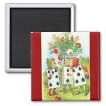 Wonderland Roses 2 Inch Square Magnet