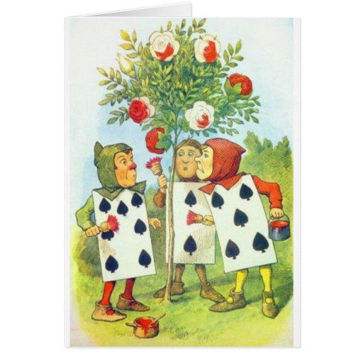 Wonderland Roses Greeting Card