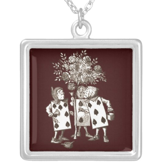Wonderland Roses Silver Plated Necklace