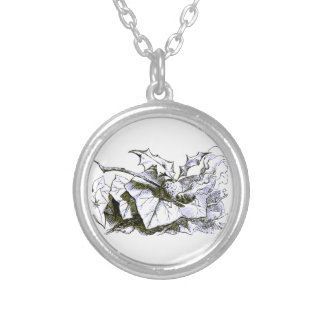 Wonderland Snap Dragonfly Blue Tint Silver Plated Necklace