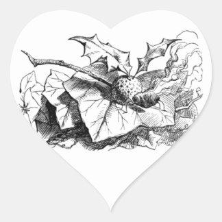 Wonderland Snap Dragonfly Heart Sticker