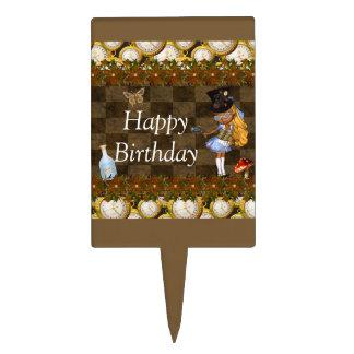 Wonderland Steampunk Birthday Party Cake Topper