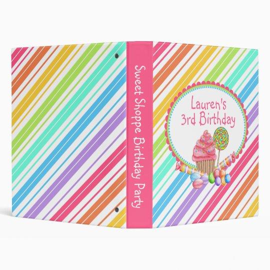 wonderland stripe Candy Cupcake Photo Album Binder