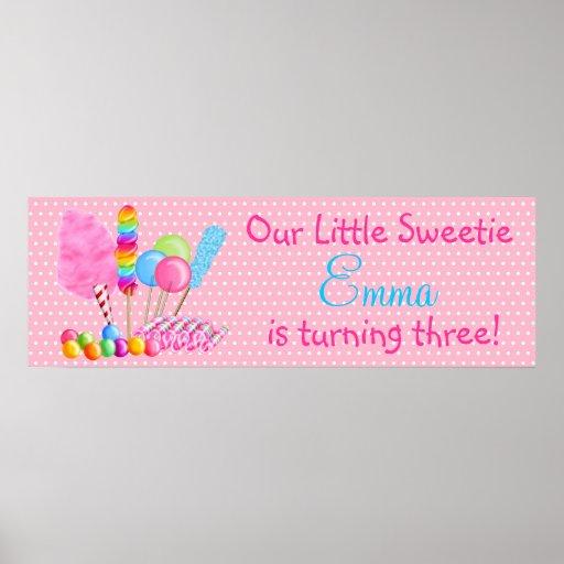 Wonderland Sweets Banner Poster