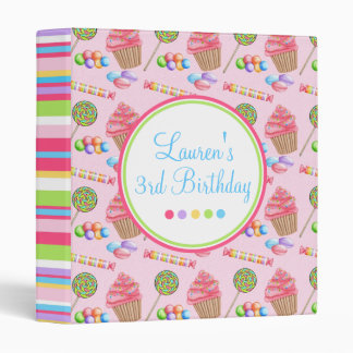 Wonderland Sweets Birthday Binder