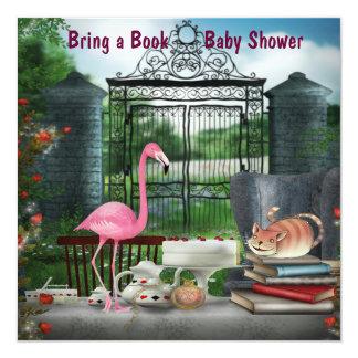 Wonderland Tea Party Bring A Book Baby Shower Invitation