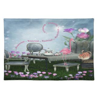 Wonderland Tea Party Pink Flamingo Placemat