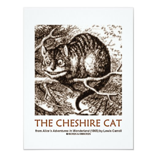 Wonderland The Cheshire Cat Personalized Invite