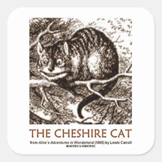 Wonderland The Cheshire Cat (Whimsical) Square Sticker