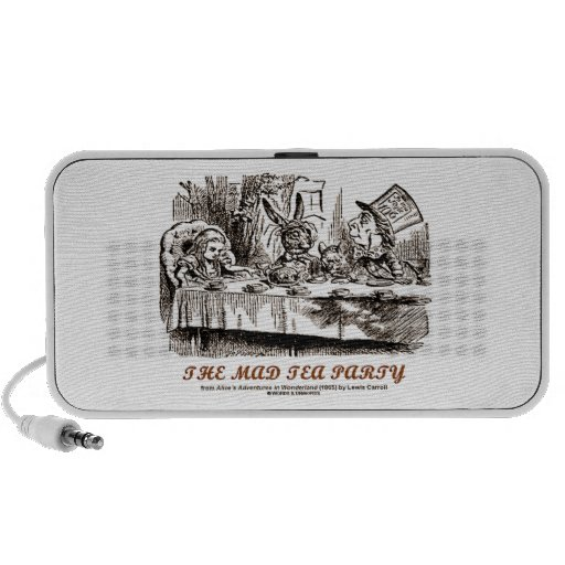 Wonderland The Mad Tea Party (Alice Mad Hatter) Portable Speakers