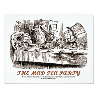 Wonderland The Mad Tea Party Card