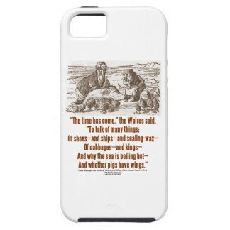 Wonderland The Time Has Come The Walrus Said Quote iPhone SE/5/5s Case
