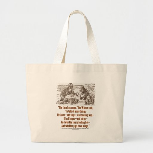 Wonderland Time Has Come Through Looking Glass Tote Bags